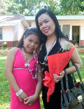 Princess and her Mama at end of school celebration.
