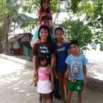 Kids showing me around the village