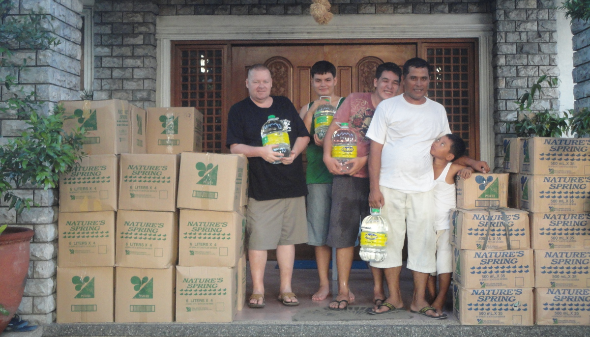 Water for typhoon victims