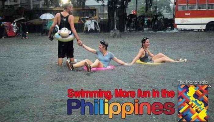 Fun in Manila on a rainy day