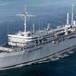 USS L.Y.Spear AS-36 the ship Max and I were on