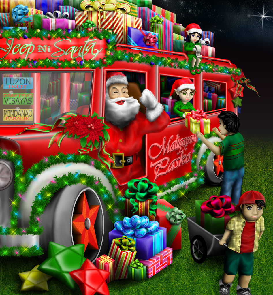 Christmas Jeepney.Santa S Jeepney Live In The Philippines