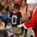 Lots of people came to see Santa