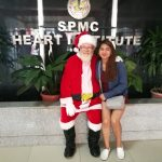 Santa and Alex at the Heart Institute