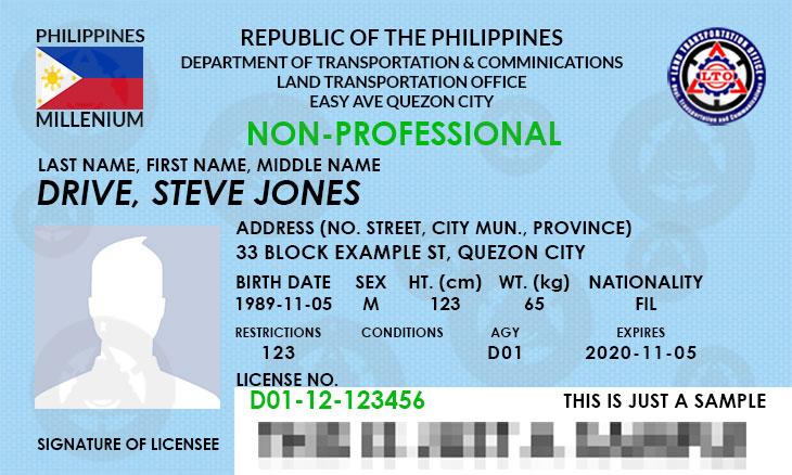 Philippine Driver's License