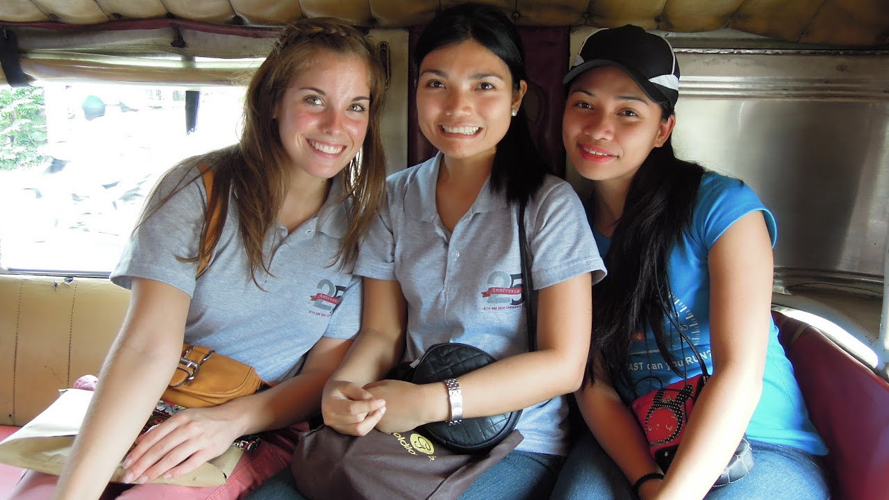 Girls on a Jeepney